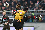 01.12.2018,  GER; 2. FBL, FC St. Pauli vs SG Dynamo Dresden ,DFL REGULATIONS PROHIBIT ANY USE OF PHOTOGRAPHS AS IMAGE SEQUENCES AND/OR QUASI-VIDEO, im Bild Jannis Nikolaou (Dresden #04) versucht sich gegen Jeremy Dudziak (Pauli #08) durchzusetzen Foto © nordphoto / Witke *** Local Caption ***