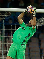 Gianluigi Buffon  during the  italian serie a soccer match,between SSC Napoli and Juventus       at  the San  Paolo   stadium in Naples  Italy , April 02, 2017