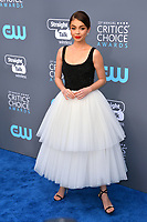 Sarah Hyland at the 23rd Annual Critics' Choice Awards at Barker Hangar, Santa Monica, USA 11 Jan. 2018<br /> Picture: Paul Smith/Featureflash/SilverHub 0208 004 5359 sales@silverhubmedia.com