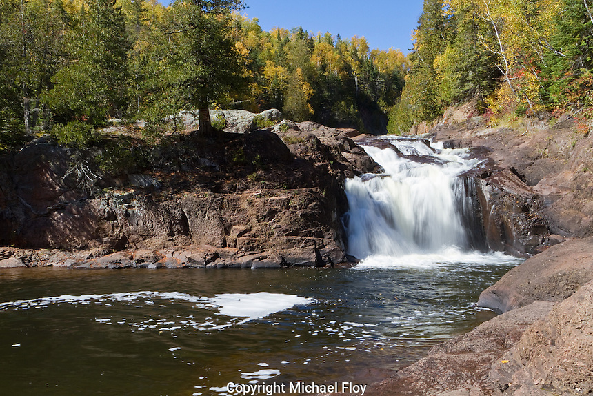 Lower Falls of the Brule River located in Judge Magney State Park, Minnesota.