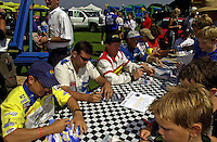 Autograph session (L to R): Tim Seebold, John Lane, Terry Rinker Rusty Campbell, Todd Beckman and Jimmy Ablott.