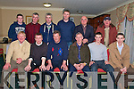 At the presentation of medals to the 2008 County Minor Champions at the Hillgrove Hotel on Friday night were - West Kerry Minor Management, Captain, Officers and Kerry Star Marc O'Se?.Seated left to right - Muiris O'Fiannachta (Roighno?ir), Breanda?n Fitzgerald (Bainisteoir), Padraig Galvin (PRO), Tim Dennehy, Alan Fitzgerald (Captaen), Marc O'Se?.Standing left to right - Shane O?'Suillieabha?in (Roighno?ir), Se?amus O'Cinneide (Roighno?ir), Toma?s O'Domhnaill (Roighno?ir), Padra?ic POC O? Corcora?in (Traena?lai?), Derry O?'Murchu? (Cathoirleach), Tom Ferriter.