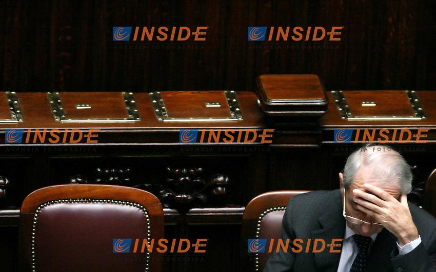 Roma 11/10/2006 Camera dei Deputati. Question Time. Il Ministro degli Interni Giuliano Amato<br /> Photo Serena Cremaschi INSIDE (www.insidefoto.com)