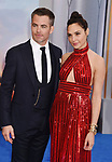 HOLLYWOOD, CA - MAY 25:  Actors Chris Pine (L) and Gal Gadot arrive at the premiere of Warner Bros. Pictures' 'Wonder Woman' at the Pantages Theatre on May 25, 2017 in Hollywood, California.
