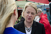 Green Party leader Natalie Bennett, Ridley Road market, Dalston, London.