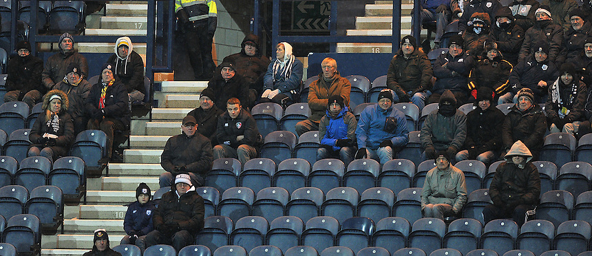 Fans<br /> <br /> Photographer Dave Howarth/CameraSport<br /> <br /> Football - The Football League Sky Bet League One - Preston North End v Yeovil Town - Tuesday 20th January 2015 - Deepdale - Preston<br /> <br /> &copy; CameraSport - 43 Linden Ave. Countesthorpe. Leicester. England. LE8 5PG - Tel: +44 (0) 116 277 4147 - admin@camerasport.com - www.camerasport.com