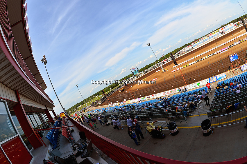 May 25, 2013; 4:45:49 PM; Wheatland, Mo., USA; The  Lucas Oil Late Model Dirt Series running the 21st Annual Lucas Oil Show-Me 100 Presented by ProtectTheHarvest.com.  Mandatory Credit: (thesportswire.net)