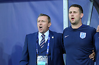 England Under21 manager Aidy Boothroyd belts out the National Anthem before England Under-21 vs Poland Under-21, UEFA European Under-21 Championship Football at The Kolporter Arena on 22nd June 2017