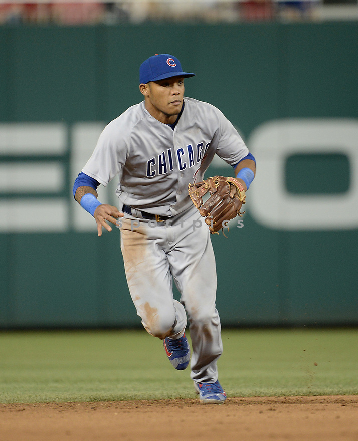 Chicago Cubs Addison Russell (27) during a game against the Washington Nationals on June 14, 2016 at Nationals Park in Washington, DC. The Cubs beat the Nationals 4-3.