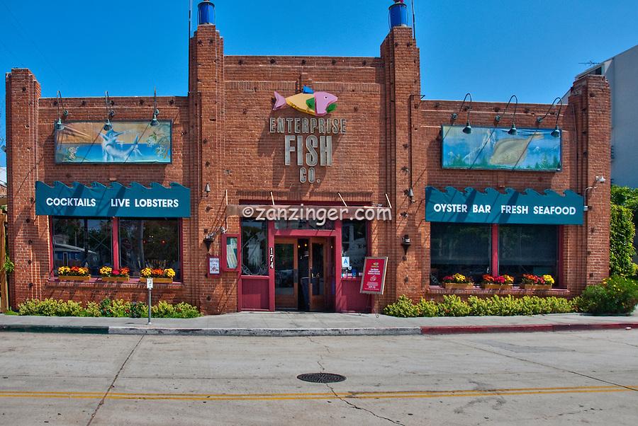 Enterprise Fish Company,Restaurant, Building Exterior, Panorama, Santa Monica, CA