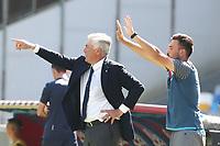 Carlo Ancelotti coach of Napoli and Davide Ancelotti coach in seconda gestures<br /> Napoli 29-9-2019 Stadio San Paolo <br /> Football Serie A 2019/2020 <br /> SSC Napoli - Brescia FC<br /> Photo Cesare Purini / Insidefoto