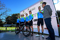 Team Bridgelane. The opening ceremony of the NZ Cycle Classic UCI Oceania Tour at Queen Elizabeth Park in Masterton, New Zealand on Tuesday, 14 January 2020. Photo: Dave Lintott / lintottphoto.co.nz