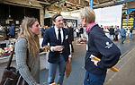 AMERSFOORT - Bas en Suzanne Heijmans (Welschap) met Chris Veldkamp.. Nationaal Golf Congres & Beurs (Het Juiste Spoor) van de NVG.     © Koen Suyk.