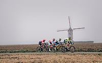 with the peloton going extremely slow behind them, the breakaway group was up to about 15 minutes ahead at 1 point...<br /> <br /> 74th Omloop Het Nieuwsblad 2019 <br /> Gent to Ninove (BEL): 200km<br /> <br /> ©kramon