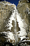 CA: Yosemite National Park, Yosemite Falls, Winter       .Photo Copyright: Lee Foster, lee@fostertravel.com, www.fostertravel.com, (510) 549-2202.cayose207.