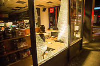 NEW YORK, NEW YORK - JUNE 1: View of a CNG store damaged by protesters on June 1, 2020 in New York. The protests spread across the country in at least 30 cities across the United States, over the death of unarmed black man George Floyd at the hands of a police officer, this is the latest death in a series of police deaths of black Americans. Today is the first night of a curfew in New York City (Photo by Pablo Monsalve / VIEWpress via Getty Images)