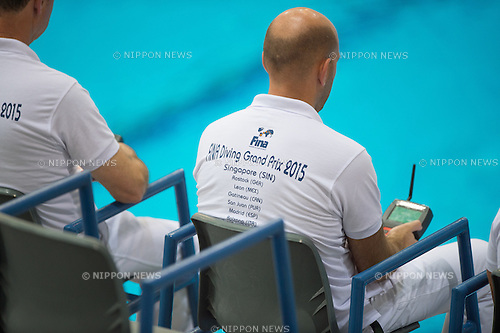 FINA Diving Grand Prix 2015 (Singapore) at the OCBC Aquatic Centre in Singapore on 17 Oct 2015. (Photo by Haruhiko Otsuka/Aflo)