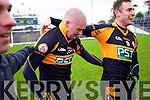 Darragh Long and William Kirby Austin Stacks players celebrate winning the Kerry Senior County Football Final at Fitzgerald Stadium on Sunday.