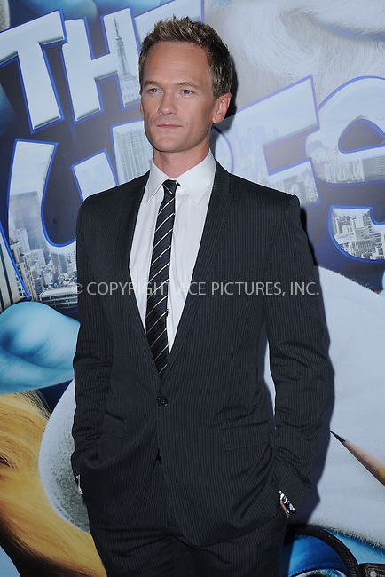 WWW.ACEPIXS.COM . . . . . .July 24, 2011...New York City....Neil Patrick Harris attends the premiere of 'The Smurfs' at the Ziegfeld Theater on July 24, 2011 in New York City....Please byline: KRISTIN CALLAHAN - ACEPIXS.COM.. . . . . . ..Ace Pictures, Inc: ..tel: (212) 243 8787 or (646) 769 0430..e-mail: info@acepixs.com..web: http://www.acepixs.com .