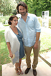 Lauri Firstenberg, JB Bogulski==<br /> LAXART 5th Annual Garden Party Presented by Tory Burch==<br /> Private Residence, Beverly Hills, CA==<br /> August 3, 2014==<br /> &copy;LAXART==<br /> Photo: DAVID CROTTY/Laxart.com==