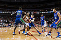 November 8, 2013: Tai Webster (0) of the Nebraska Cornhuskers tries to squeeze between Marcus Blake (24) and Brett Comer (0) of the Florida Gulf Coast Eagles at the Pinnacle Bank Areana, Lincoln, NE. Nebraska defeated Florida Gulf Coast 79 to 55.