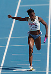 31.07.2010, Olympic Stadium, Barcelona, ESP, European Athletics Championships Barcelona 2010, im Bild Merlene Ottey of Slovenia competes during  the 4x100m Womens Relay Heats, EXPA Pictures © 2010, PhotoCredit: EXPA/ Sportida/ Vid Ponikvar +++++ ATTENTION - OUT OF SLOVENIA +++++