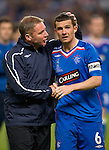 Ally McCoist tries to keep Barry ferguson's spirits intact at the end