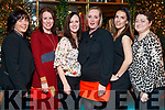 Joan Naughton, Brid O'Connor, Debbie Dillon, Rose Crowley, Simone Leahy and Sandra Burke, enjoying Women's Christmas at the Ashe Hotel, Tralee on Saturday night last.