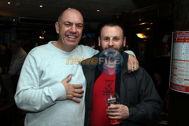 Paul Campbell and Dave O'Neill on Christmas Eve in the Laurence Inn. ..(Photo credit should read Jenny Matthews www.newsfile.ie)....This Picture has been sent you under the conditions enclosed by:.Newsfile Ltd..The Studio,.Millmount Abbey,.Drogheda,.Co Meath..Ireland..Tel: +353(0)41-9871240.Fax: +353(0)41-9871260.GSM: +353(0)86-2500958.email: pictures@newsfile.ie.www.newsfile.ie.