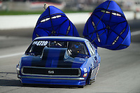 Aug. 31, 2012; Claremont, IN, USA: NHRA pro mod driver Clint Satterfield during qualifying for the US Nationals at Lucas Oil Raceway. Mandatory Credit: Mark J. Rebilas-