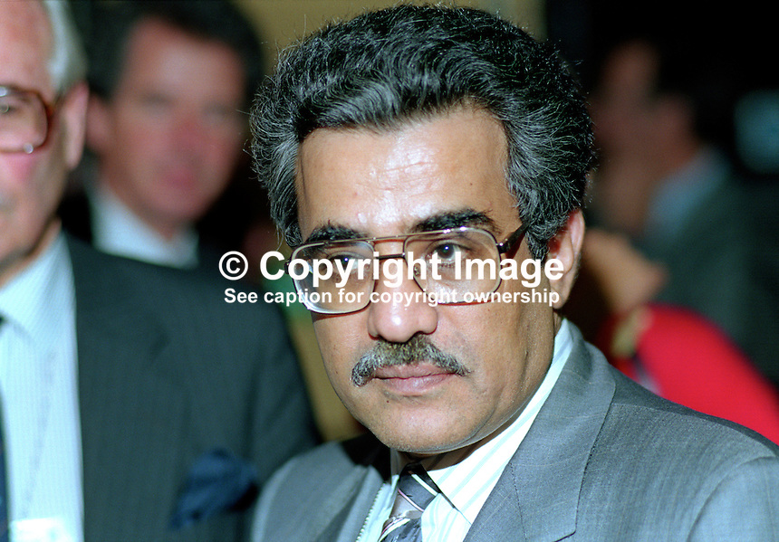 Sheik Ali Khalifa al-Sabah, Finance Minister, Kuwait, at Conservative Party annual conference, Bournemouth, UK. 19901050AKAS2..Copyright Image from Victor Patterson, 54 Dorchester Park, Belfast, UK, BT9 6RJ..Tel: +44 28 9066 1296.Mob: +44 7802 353836.Voicemail +44 20 8816 7153.Skype: victorpattersonbelfast.Email: victorpatterson@me.com.Email: victorpatterson@ireland.com (back-up)..IMPORTANT: If you wish to use this image or any other of my images please go to www.victorpatterson.com and click on the Terms & Conditions. Then contact me by email or phone with the reference number(s) of the image(s) concerned.