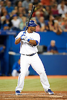 Toronto Blue Jays outfielder Edwin Encarnacion #10 during an American League game against the Seattle Mariners at the Rogers Centre on September 13, 2012 in Toronto, Ontario.  Toronto defeated Seattle 8-3.  (Mike Janes/Four Seam Images)