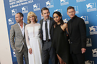 Venice, Italy - September 05: Zev Foreman, actors January Jones, Ethan Hawke, Zoe Kravitz and director Andrew Niccol attend the 'NGood Kill' photocall at Palazzo Del Cinema, during the 71st Venice Film Festival on September 05, 2014 in Venice, Italy. (Photo by Mark Cape/Inside Foto)<br /> Venezia, Italy - September 05: Zev Foreman, actors January Jones, Ethan Hawke, Zoe Kravitz and director Andrew Niccol presenti al photocall di 'Good Kill' al Palazzo Del Cinema, durante del 71st Venice Film Festival. Settenbre 05, 2014 Venezia, Italia. (Photo by Mark Cape/Inside Foto)