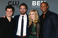 LOS ANGELES - AUG 4:  Ben Lewis, Stephen Amell, Katherine McNamara, David Ramsey at the  CW Summer TCA All-Star Party at the Beverly Hilton Hotel on August 4, 2019 in Beverly Hills, CA