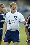 18 June 2004: Cindy Parlow. The Atlanta Beat tied the New York Power 2-2 at the National Sports Center in Blaine, MN in Womens United Soccer Association soccer game featuring guest players from other teams.