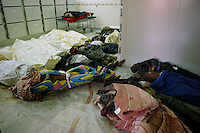 Tripoli, Libya, August 25, 2011.More than 80 bodies lay in the hospital morgue. Tripoli central hospital operates under very difficult circumstances, lacking personnel and supplies such as medecines, oxygen and dressings.