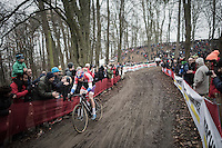 Mathieu Van der Poel (NED/Beobank-Corendon) demonstrating his good form once again by leading the race<br /> <br /> UCI Cyclocross World Cup Namur/Belgium 2016