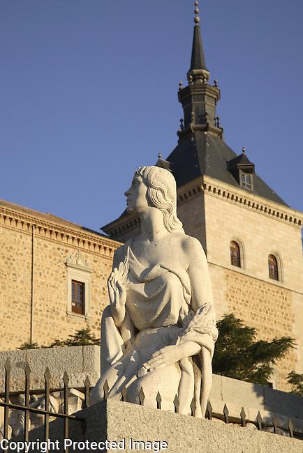 Alcazar Castle, Toledo, Castile La Mancha, Spain
