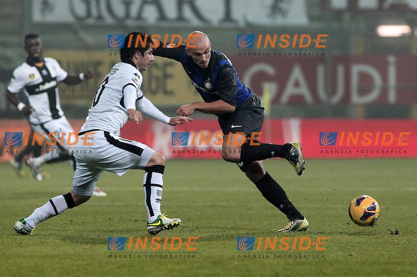 "Esteban Cambiasso Inter.Parma 26/11/2012 Stadio ""Tardini"".Football Calcio Serie A 2012/13.Parma v Inter.Foto Insidefoto Paolo Nucci."