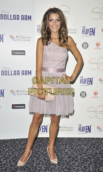 LONDON, ENGLAND - JULY 14: Gemma Oaten attends the London Indian Film Festival &quot;Million Dollar Arm&quot; UK film premiere, Cineworld Shaftesbury Avenue cinema, Coventry St., on Monday July 14, 2014 in London, England, UK. <br /> CAP/CAN<br /> &copy;Can Nguyen/Capital Pictures