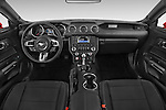 Stock photo of straight dashboard view of a 2015 Ford Mustang V6 2 Door Coupe Dashboard