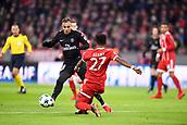 December 5th 2017, Allianze Arena, Munich, Germany. UEFA Champions league football, Bayern Munich versus Paris St Germain;  20 LAYVIN KURZAWA (psg)tackled by Alaba of Bayern