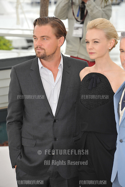 "Leonardo DiCaprio & Carey Mulligan at the photocall for their movie ""The Great Gatsby"" at the 66th Festival de Cannes..May 15, 2013  Cannes, France.Picture: Paul Smith / Featureflash"