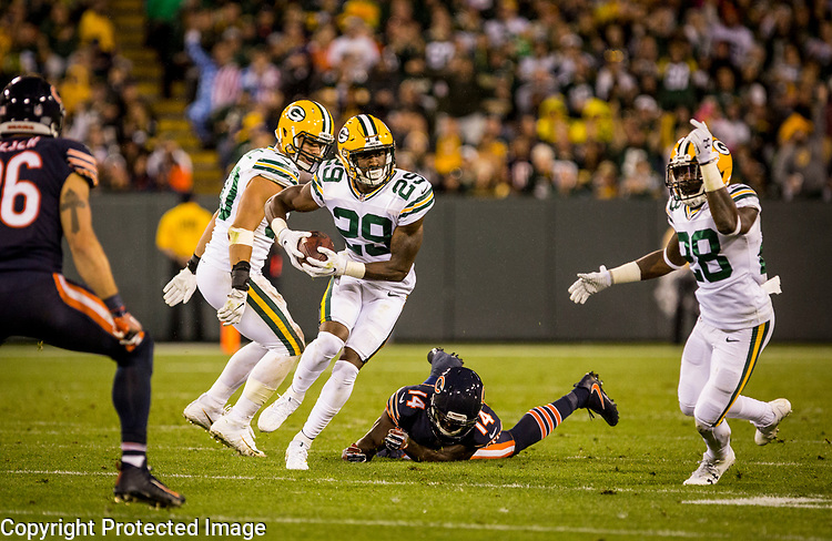 Green Bay Packers vs. Chicago Bears at Lambeau Field in Green Bay, Wis., on September 28, 2017. The Packers won 35-14.