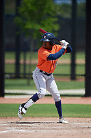 Houston Astros Andy Pineda (88) bats during a Minor League Spring Training Intrasquad game on March 28, 2019 at the FITTEAM Ballpark of the Palm Beaches in West Palm Beach, Florida.  (Mike Janes/Four Seam Images)