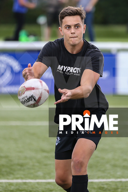 Alex Walker of London Broncos warms up ahead of the Kingstone Press Championship match between London Broncos and Featherstone Rovers at Castle Bar , West Ealing , England  on 25 June 2017. Photo by David Horn.