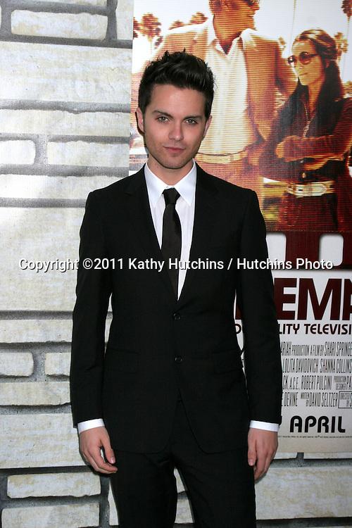 "LOS ANGELES - APR 11:  Thomas Dekker arriving at the HBO Films' ""Cinema Verite"" Los Angeles Premiere at Paramount Studios on April 11, 2011 in Los Angeles, CA"