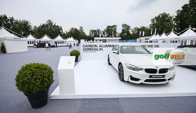 Plenty of BMW cars on display in the expansive tented village, ahead of Round Three of the 2015 BMW International Open at Golfclub Munchen Eichenried, Eichenried, Munich, Germany. 27/06/2015. Picture David Lloyd | www.golffile.ie