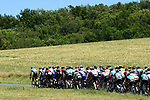 The peloton in action during Stage 5 of the Criterium du Dauphine 2019, running 201km from Boen-sur-Lignon to Voiron, France. 13th June 2019.<br /> Picture: ASO/Alex Broadway | Cyclefile<br /> All photos usage must carry mandatory copyright credit (© Cyclefile | ASO/Alex Broadway)
