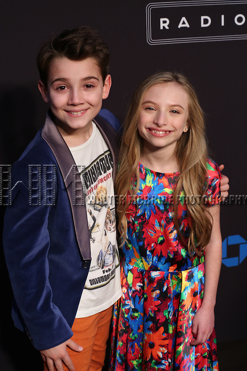Colin Critchley and Emily Rosenfeld attend the Opening Night performance of 'New York Spring Spectacular' at Radio City Music Hall on March 26, 2015 in New York City.